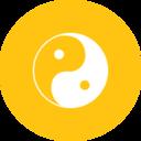Flat Yin Yang Icon