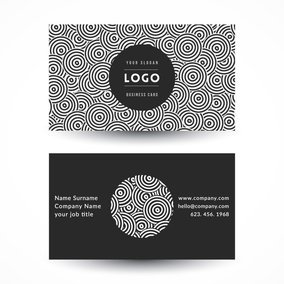 Geometric Circles Business Card