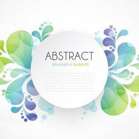 Abstract Splash Banner Design