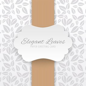 Elegant Paper Greeting Card