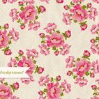 Peonies Retro Background