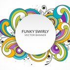 Small 1x funky swirly banner