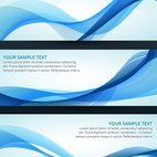 Set of vector wave banner