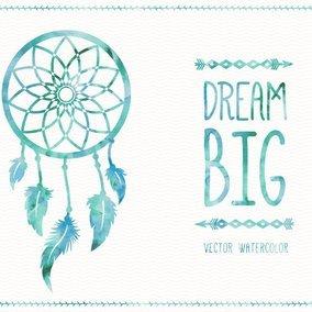 Watercolor Dreamcatcher Card