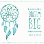 Small 1x watercolor dreamcatcher card