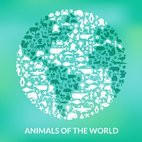 Small 1x animals of the world