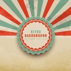 Colorful retro background