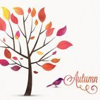Small 1x watercolor autumn tree