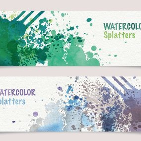 Watercolor Splatters Banners