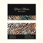Small 1x zebra print business card