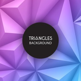 3D Geometric Triangles Background