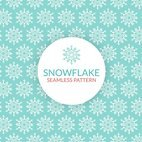 Small 1x snowflake seamless pattern