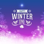 Small 1x sparkling winter background