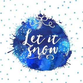 Watercolor Let It Snow