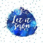 Small 1x watercolor let it snow