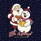 Small 1x be merry background