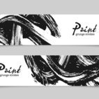 Small 1x paint brush banners