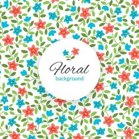 Tiny Floral Background