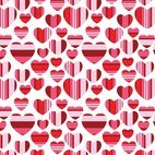 Small 1x hearts seamless background
