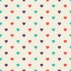 Small 1x geometric hearts pattern