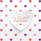 Small 1x valentine heart sticker