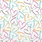 Small 1x outline hearts pattern