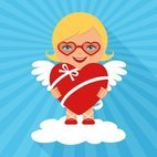 Small 1x cute valentine cupid