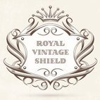 Small 1x royal vintage shield