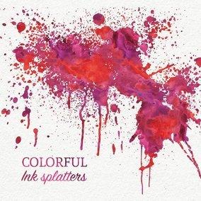 Colorful Ink Splatters