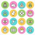 Small 1x easter and spring icons