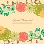 Beautiful Floral Wreath Background