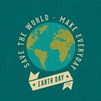 Small 1x retro earth day poster