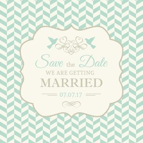 Retro Wedding Invitation
