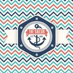 Small 1x retro nautical label