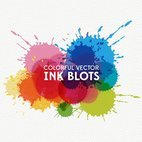 Small 1x colorful ink blots