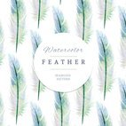 Small 1x watercolor feather pattern
