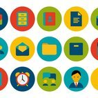 Trendy Office Icon Set