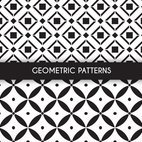Small 1x monochrome geometric patterns