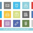 Flat Style Office Icon Set