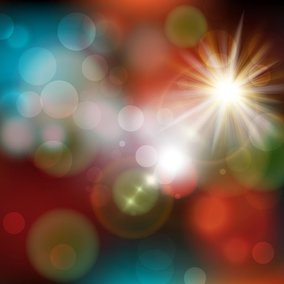 Light Burst Bokeh Vector Background