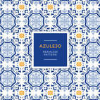 Small 1x azulejo seamless pattern