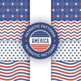 Patriot Seamless Patterns