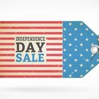 Small 1x independence day retro sale tag