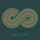 Small 1x infinity sign