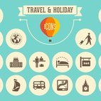 Small 1x travel holiday retro icons