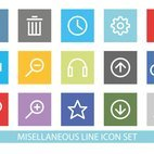Misellaneous Line Icon Set