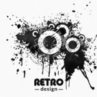 Small 1x retro grunge design