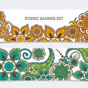 Ethnic Banner Set