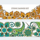 Small 1x ethnic banner set