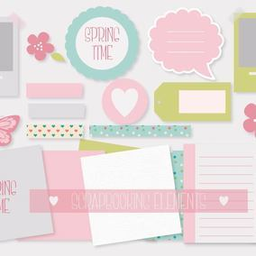Cute Scrabook Element Set